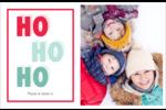 « Ho Ho Ho » Cartes de souhaits pliées en deux - gabarit prédéfini. <br/>Utilisez notre logiciel Avery Design & Print Online pour personnaliser facilement la conception.