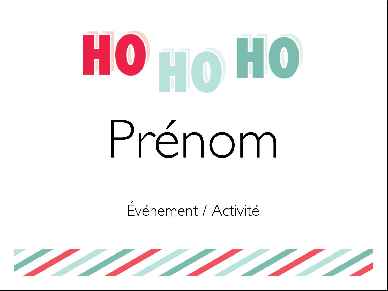 « Ho Ho Ho » Badges - gabarit prédéfini. <br/>Utilisez notre logiciel Avery Design & Print Online pour personnaliser facilement la conception.