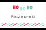 « Ho Ho Ho » Carte d'affaire - gabarit prédéfini. <br/>Utilisez notre logiciel Avery Design & Print Online pour personnaliser facilement la conception.