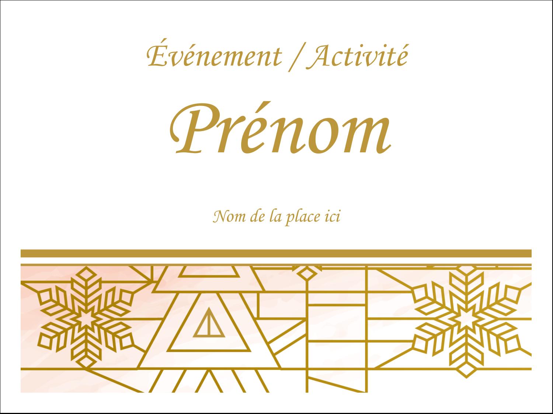 Hiver géométrique Badges - gabarit prédéfini. <br/>Utilisez notre logiciel Avery Design & Print Online pour personnaliser facilement la conception.