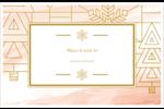 Hiver géométrique Cartes de souhaits pliées en deux - gabarit prédéfini. <br/>Utilisez notre logiciel Avery Design & Print Online pour personnaliser facilement la conception.