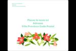 Pleine floraison  Étiquettes D'Adresse - gabarit prédéfini. <br/>Utilisez notre logiciel Avery Design & Print Online pour personnaliser facilement la conception.