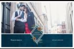 Couronne élégante Cartes de souhaits pliées en deux - gabarit prédéfini. <br/>Utilisez notre logiciel Avery Design & Print Online pour personnaliser facilement la conception.