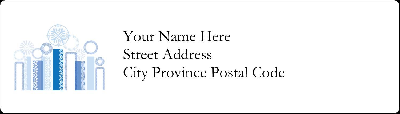 "½"" x 1¾"" Address Label - Hanukkah Menorah Blue"