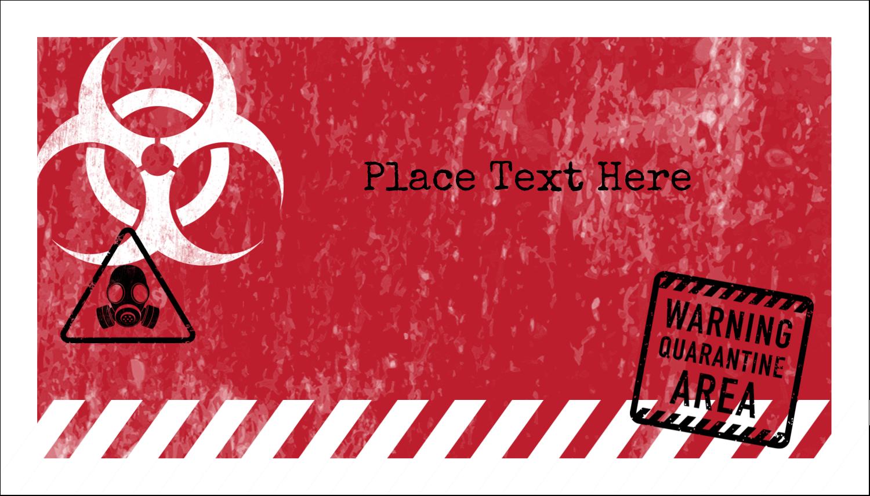 photo relating to Quarantine Sign Printable identify Halloween Zombie Apocalypse predesigned Label and Card