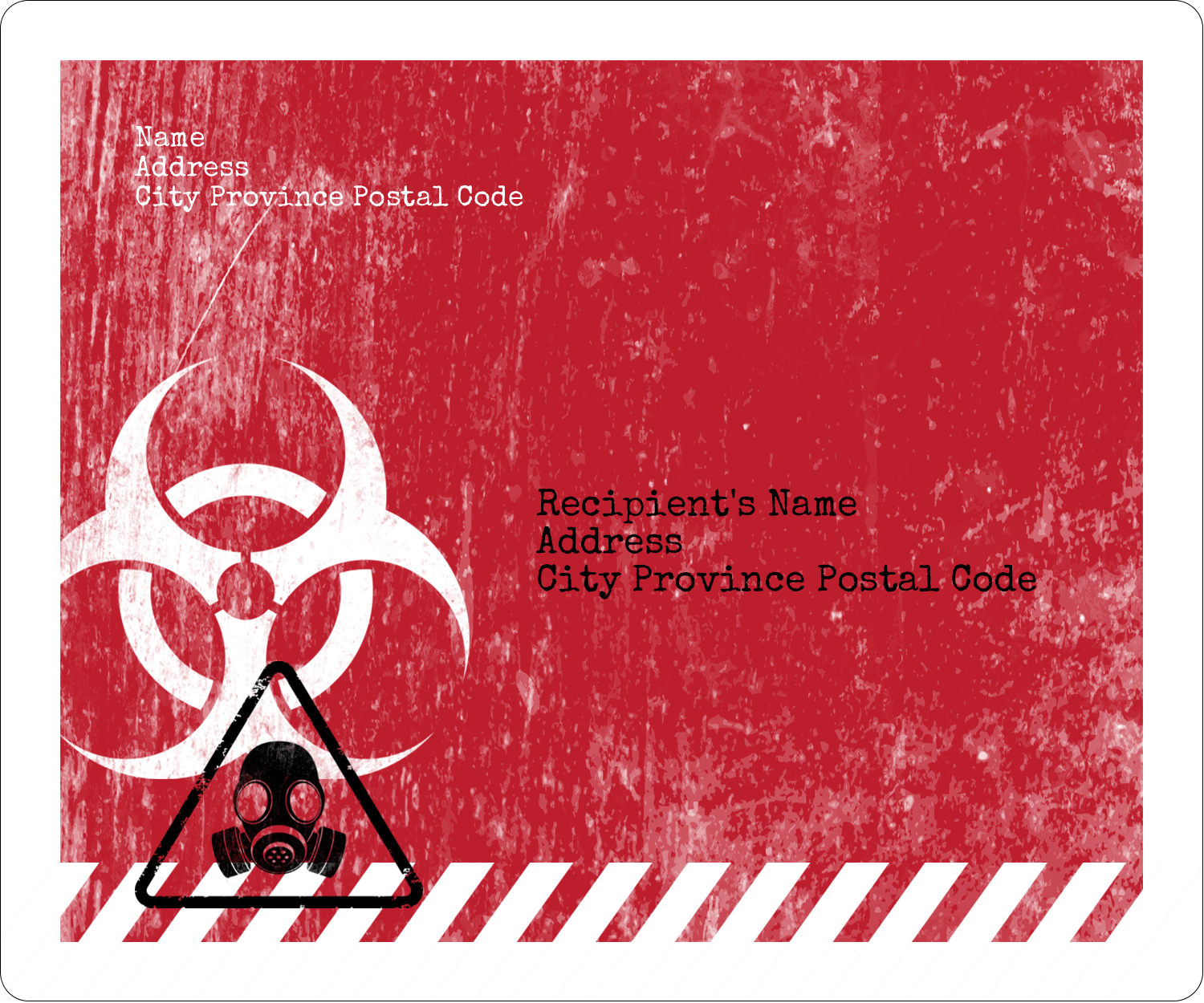 "3⅓"" x 4"" Shipping Label - Halloween Zombie Apocalypse"