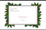 Bordure florale de Noël Étiquettes d'expédition - gabarit prédéfini. <br/>Utilisez notre logiciel Avery Design & Print Online pour personnaliser facilement la conception.