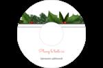 Bordure florale de Noël Étiquettes Pour Médias - gabarit prédéfini. <br/>Utilisez notre logiciel Avery Design & Print Online pour personnaliser facilement la conception.