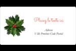 Bordure florale de Noël Étiquettes de classement écologiques - gabarit prédéfini. <br/>Utilisez notre logiciel Avery Design & Print Online pour personnaliser facilement la conception.