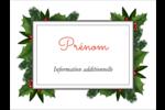 Bordure florale de Noël Badges - gabarit prédéfini. <br/>Utilisez notre logiciel Avery Design & Print Online pour personnaliser facilement la conception.