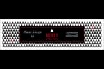 Noir et blanc Affichette - gabarit prédéfini. <br/>Utilisez notre logiciel Avery Design & Print Online pour personnaliser facilement la conception.