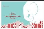 Les gabarits Éléphant blanc pour votre prochain projet des Fêtes Étiquettes d'expédition - gabarit prédéfini. <br/>Utilisez notre logiciel Avery Design & Print Online pour personnaliser facilement la conception.