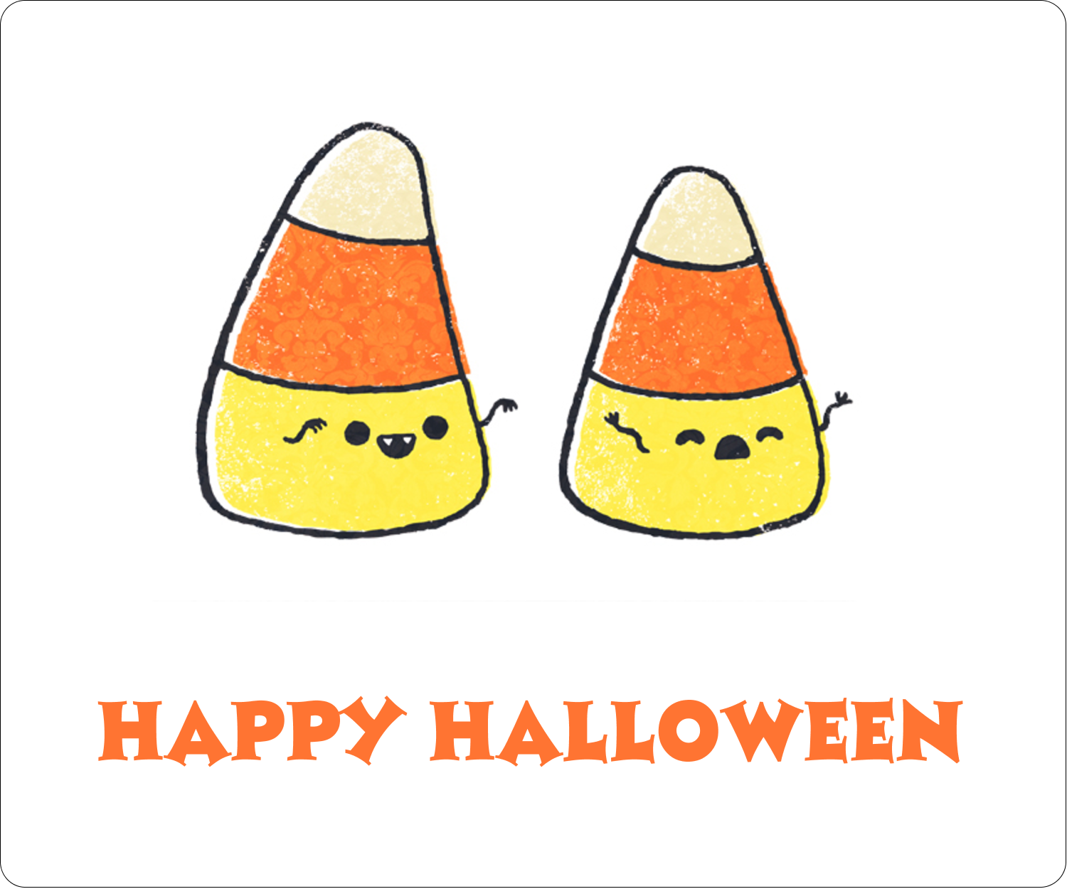 "3⅓"" x 4"" Shipping Label - Halloween Candy Corn"