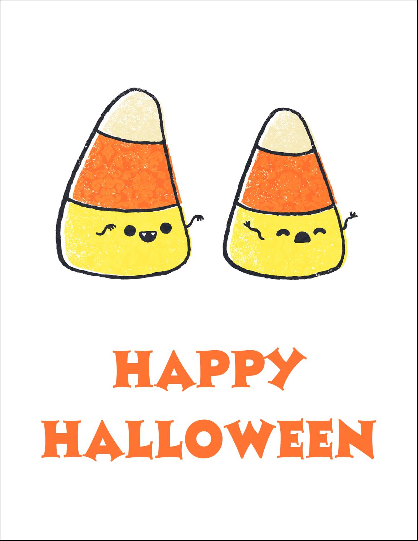 "8½"" x 11"" T-Shirt-Tranfers - Halloween Candy Corn"