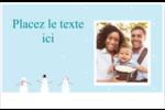 Petits bonshommes de neige Cartes de souhaits pliées en deux - gabarit prédéfini. <br/>Utilisez notre logiciel Avery Design & Print Online pour personnaliser facilement la conception.