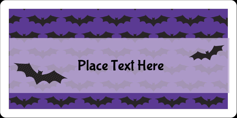 "2"" x 4"" Shipping Label - Halloween Bats"