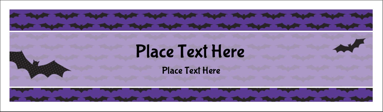 """2½"""" x 8½"""" Tent Card - Halloween Bats"""