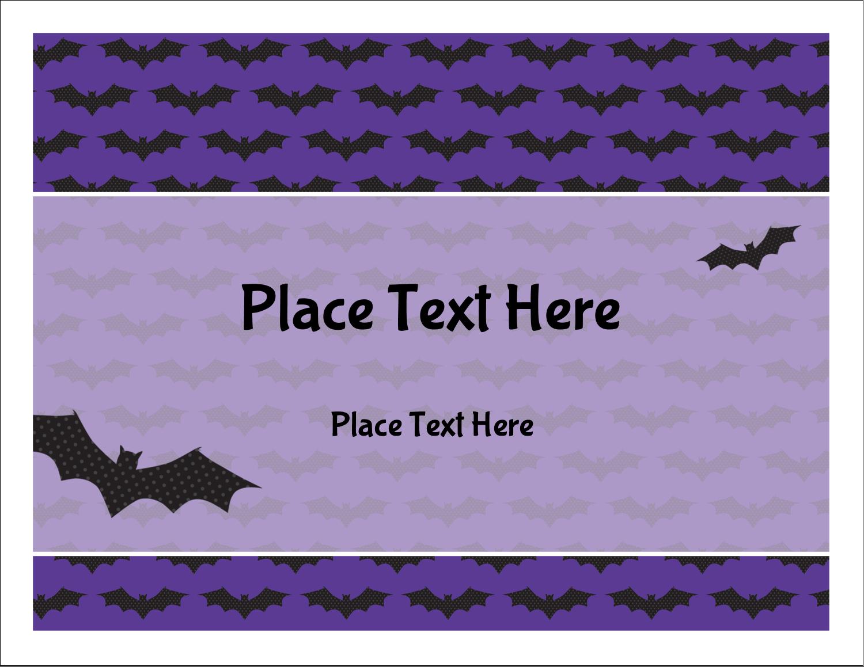 """5½"""" x 4¼"""" Note Card - Halloween Bats"""