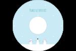 Petits bonshommes de neige Étiquettes Pour Médias - gabarit prédéfini. <br/>Utilisez notre logiciel Avery Design & Print Online pour personnaliser facilement la conception.