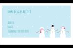 Petits bonshommes de neige Carte d'affaire - gabarit prédéfini. <br/>Utilisez notre logiciel Avery Design & Print Online pour personnaliser facilement la conception.