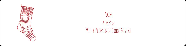 """1⅓"""" x 4"""" Étiquettes d'adresse - Bas de Noël suspendus"""