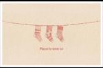 Bas de Noël suspendus Cartes de souhaits pliées en deux - gabarit prédéfini. <br/>Utilisez notre logiciel Avery Design & Print Online pour personnaliser facilement la conception.