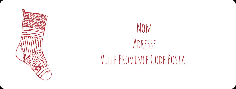 """1"""" x 2⅝"""" Étiquettes d'adresse - Bas de Noël suspendus"""