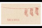 Bas de Noël suspendus Carte d'affaire - gabarit prédéfini. <br/>Utilisez notre logiciel Avery Design & Print Online pour personnaliser facilement la conception.