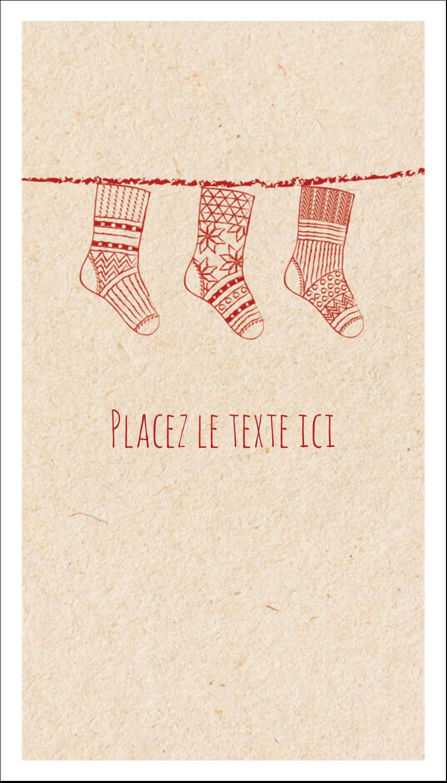 """2"""" x 3½"""" Carte d'affaire - Bas de Noël suspendus"""