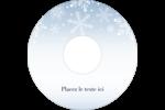 Les gabarits Flocon de neige élégant pour votre prochain projet des Fêtes Étiquettes Pour Médias - gabarit prédéfini. <br/>Utilisez notre logiciel Avery Design & Print Online pour personnaliser facilement la conception.