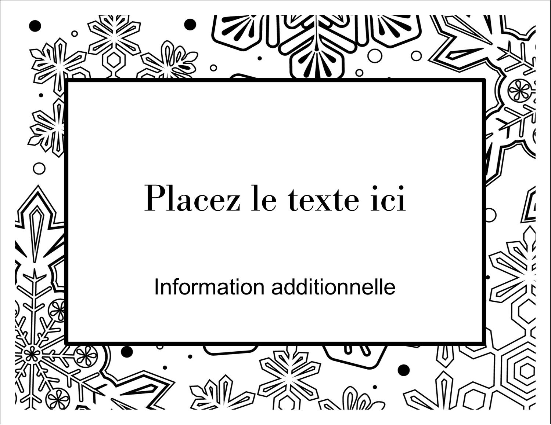 """4¼"""" x 5½"""" Cartes Et Articles D'Artisanat Imprimables - Mandala de flocon de neige"""