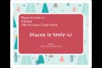 Les gabarits Motif d'arbres pour votre prochain projet des Fêtes Étiquettes D'Adresse - gabarit prédéfini. <br/>Utilisez notre logiciel Avery Design & Print Online pour personnaliser facilement la conception.