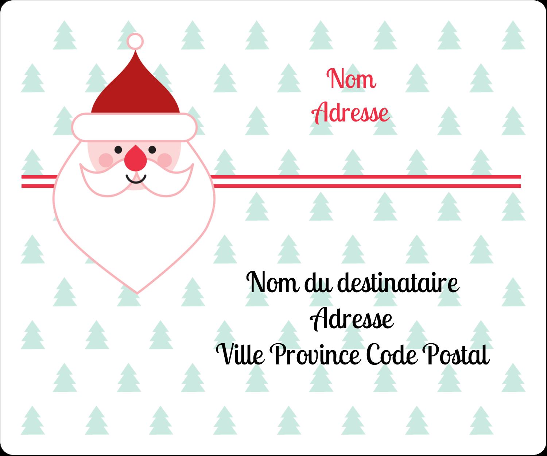 """½"""" x 1¾"""" Étiquettes D'Adresse - Père Noël"""