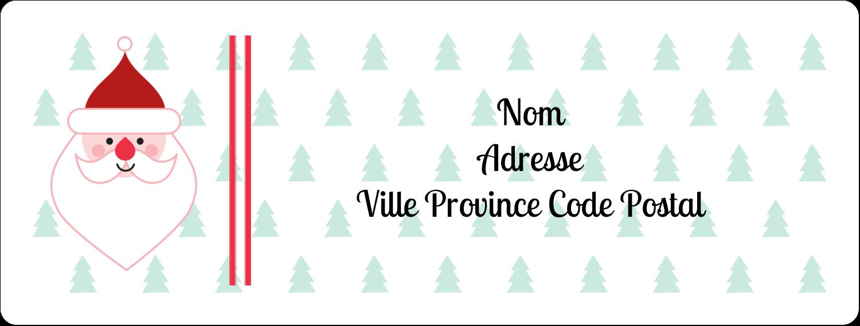 """1"""" x 2⅝"""" Étiquettes d'adresse - Père Noël"""