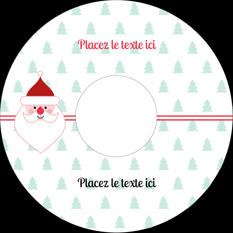 CD/DVD Étiquettes Pour Médias - Père Noël