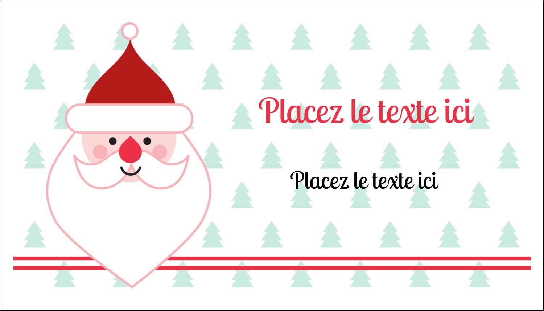 """2"""" x 3½"""" Carte d'affaire - Père Noël"""