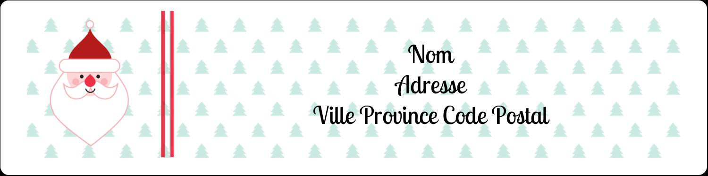 """1⅓"""" x 4"""" Étiquettes d'adresse - Père Noël"""