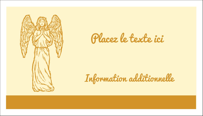 """2"""" x 3½"""" Carte d'affaire - Gravure pieuse"""