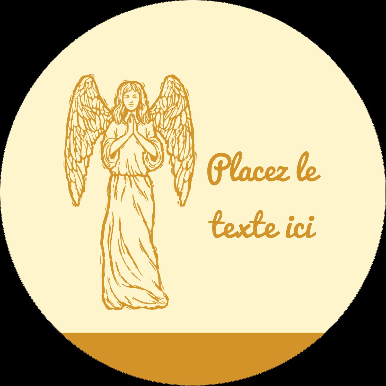 """1½"""" Diameter Étiquettes Voyantes - Gravure pieuse"""