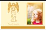 Gravure pieuse Cartes de souhaits pliées en deux - gabarit prédéfini. <br/>Utilisez notre logiciel Avery Design & Print Online pour personnaliser facilement la conception.