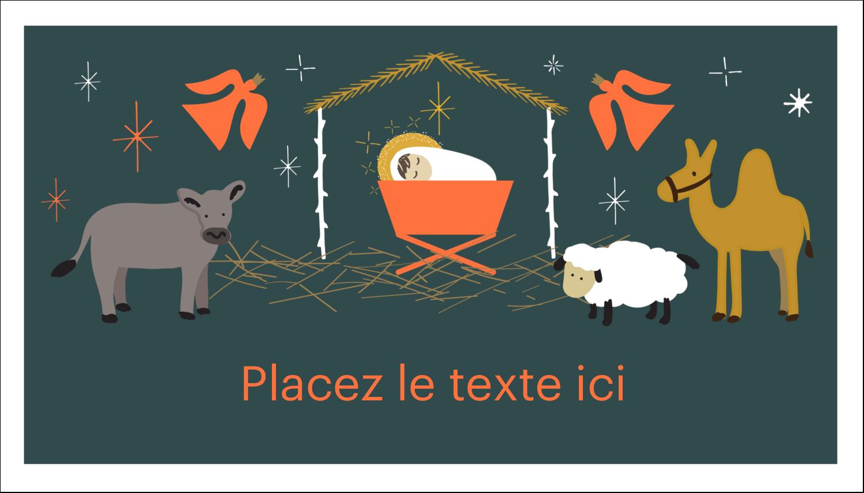 """2"""" x 3½"""" Carte d'affaire - Animaux de la crèche"""