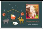 Animaux de la crèche Cartes de souhaits pliées en deux - gabarit prédéfini. <br/>Utilisez notre logiciel Avery Design & Print Online pour personnaliser facilement la conception.