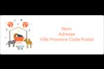 Animaux de la crèche Étiquettes d'adresse - gabarit prédéfini. <br/>Utilisez notre logiciel Avery Design & Print Online pour personnaliser facilement la conception.