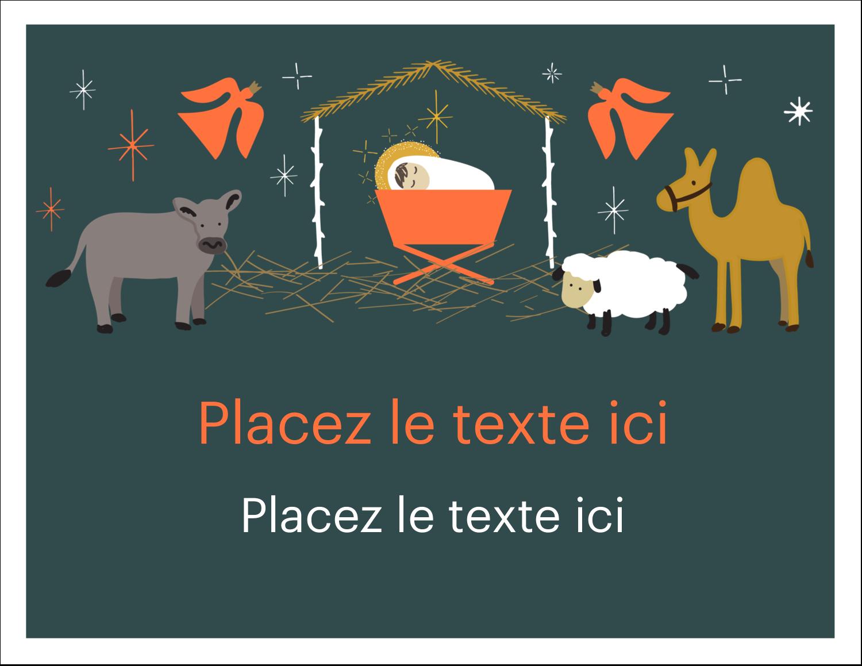 """8½"""" x 11"""" Cartes Et Articles D'Artisanat Imprimables - Animaux de la crèche"""
