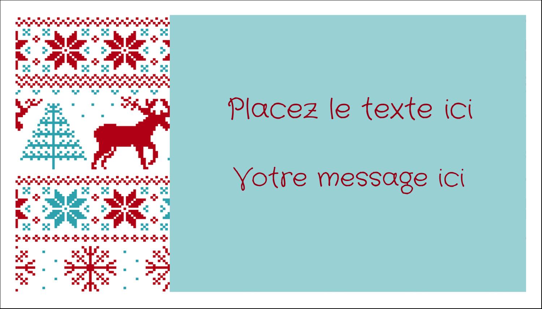 """2"""" x 3½"""" Carte d'affaire - Chandail de poinsettias"""
