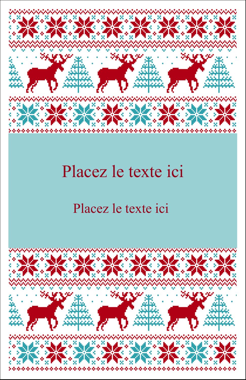 """8½"""" x 5"""" Cartes Et Articles D'Artisanat Imprimables - Chandail de poinsettias"""