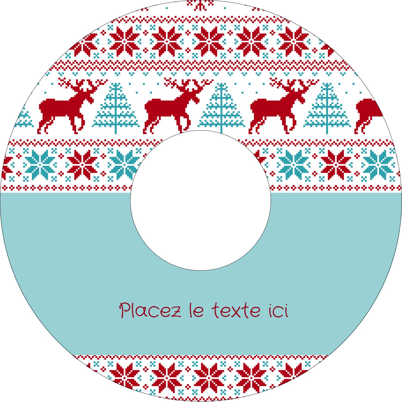 CD/DVD Étiquettes Pour Médias - Chandail de poinsettias