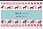 Chandail de poinsettias Cartes de souhaits pliées en deux - gabarit prédéfini. <br/>Utilisez notre logiciel Avery Design & Print Online pour personnaliser facilement la conception.