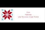 Chandail de poinsettias Intercalaires / Onglets - gabarit prédéfini. <br/>Utilisez notre logiciel Avery Design & Print Online pour personnaliser facilement la conception.