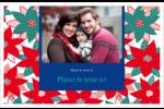 Les gabarits Poinsettia pour votre prochain projet des Fêtes Cartes de souhaits pliées en deux - gabarit prédéfini. <br/>Utilisez notre logiciel Avery Design & Print Online pour personnaliser facilement la conception.